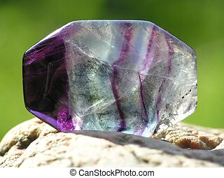 transparent amethyst - close-up of transparent amethyst...