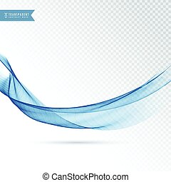 transparent background with blue wave effect