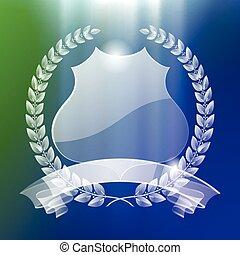 Transparent badge