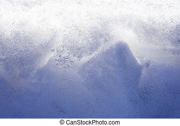 Transparent blue ice