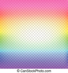 blurred summer background with sun and transparent grid vector