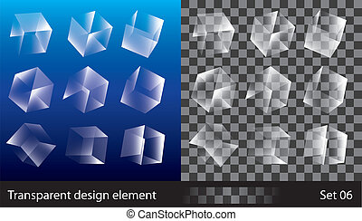 Transparent Boxes - Vector illustration of different ...
