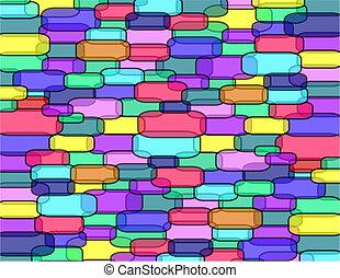 Transparent bricks wall - Wall of transparent bricks