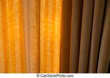Transparent brown curtain