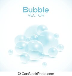 Transparent bubbles isolated on white vector background
