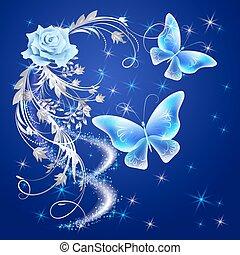 Transparent butterflies