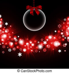 Transparent Christmas decorations. Balls on a dark ...