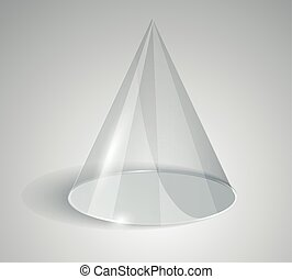 Transparent cone isolated on white background