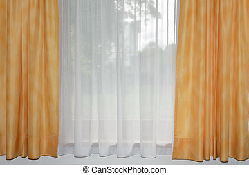 transparent curtain - transparent home curtain with window...