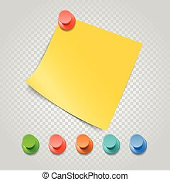 transparent., diferente, jogo, cor, isolado, vetorial, paperclip, alfinetes