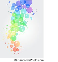 transparent dots - illustration of colorful transparent dots