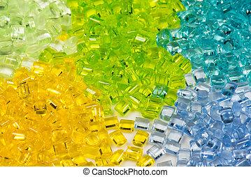 transparent dyed polymer resin