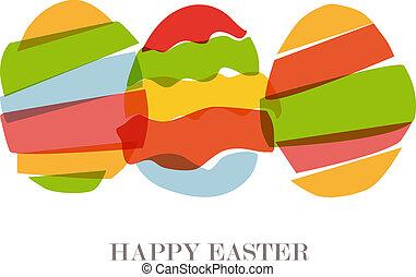 Transparent Easter eggs silhouette