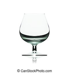 Transparent Empty Wine Glass Isolated On White