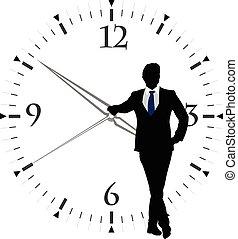 transparent, figure humaine, horloge