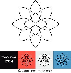 Transparent flower icon. Vector icon on different types backgrounds, Eps 10