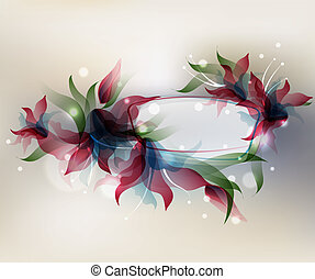 Transparent flowers background