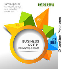 Transparent fractal corporate background - Illustration for...
