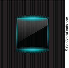 Transparent frame with reflection on striped background -...