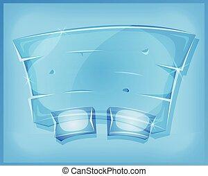 Transparent Glass Agreement Panel