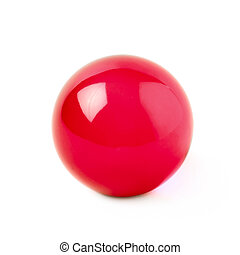 Transparent glass ball sphere isolated