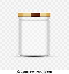 Transparent Glass Jar for canning and preserving. Metal ...