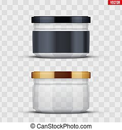 Transparent Glass Jars for canning and preserving. - Set of...