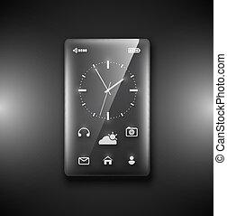Transparent glass phone