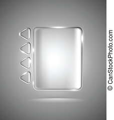 Transparent glass rectangle and triangles - Lightened ...