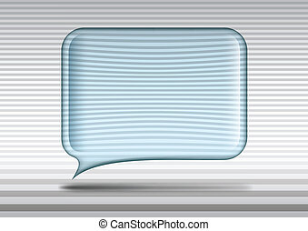 Transparent glass speech bubble