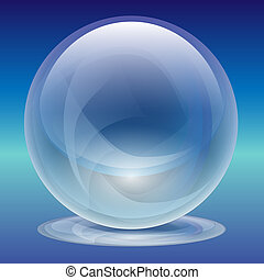 Transparent Glass Sphere-Pearl
