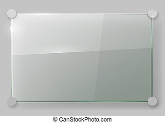 Glass plate on the wall