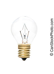 Transparent globe bulb