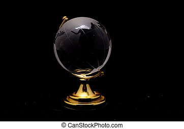 Transparent Globe Earth - Glass Transparent Globe Earth on a...