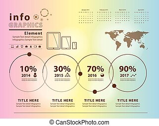 Transparent infographic vector template design