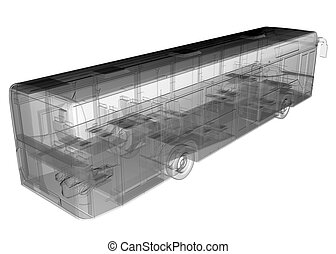 transparent isolated bus image