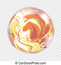 Transparent light bulb sphere background