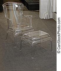 transparent, meubles