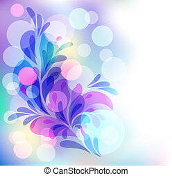 Transparent ornament and boke - Abstract background with...