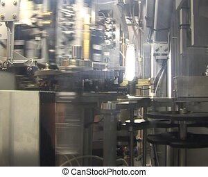Transparent PET bottles production line. Special plastic...