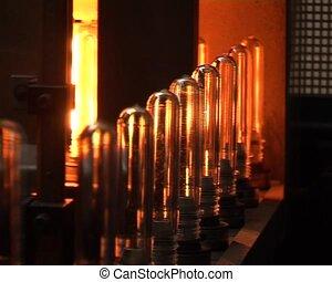 Transparent PET bottles production