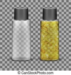 Transparent Plastic Bottle For Liquid Cosmetic