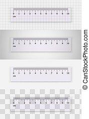 Transparent plastic ruler 10 centimeters