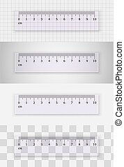 Transparent plastic ruler 10 centimeters