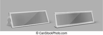 Transparent plastic table card holder - Table card holder, ...