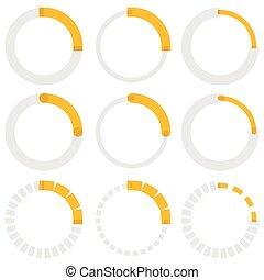 Transparent progress indicators. Preloaders, phase, step indicators, meters.