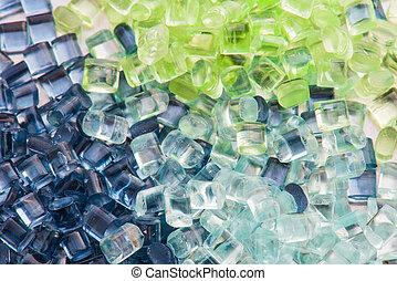 transparent, résine, plastique