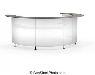 Transparent reception. 3d render on white background