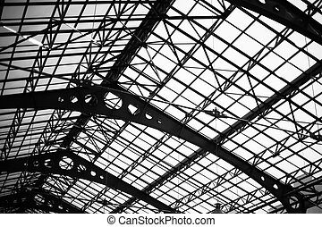 Transparent roof futuristic architecture dome of glass