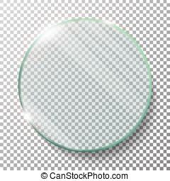 Transparent Round Circle Vector Realistic Illustration. Flat...